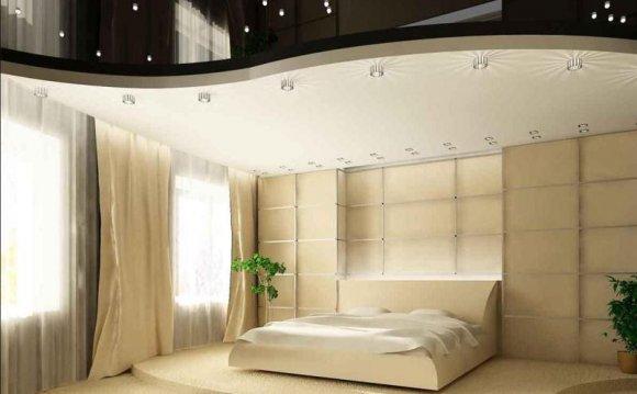 Дизайн стены в спальне из